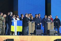 Ukraińska Prezydencka debata w Kyiv fotografia stock