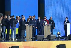Ukraińska Prezydencka debata w Kyiv obrazy stock