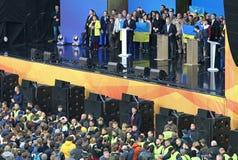 Ukraińska Prezydencka debata w Kyiv obraz royalty free