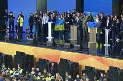 Ukraińska Prezydencka debata w Kyiv zdjęcia royalty free