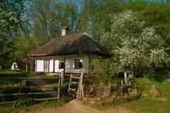 Ukraińska wioska w wiośnie Zdjęcia Royalty Free