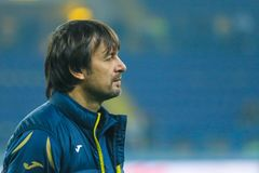 Ukraiński futbolista Oleksandr Shovkovskiy zdjęcia stock