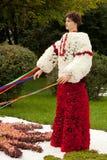 Ukraiński kozaczek z faborkami Zdjęcie Royalty Free