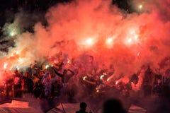 Ukraiński Najważniejszy Ligowego dopasowania dynamo Kyiv, Shakhtar - Donetsk, M Zdjęcia Stock