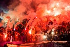 Ukraiński Najważniejszy Ligowego dopasowania dynamo Kyiv, Shakhtar - Donetsk, M Zdjęcie Stock