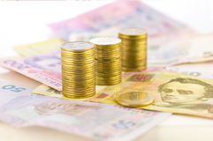 Ukraiński pieniądze zdjęcia royalty free