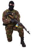 Ukraiński pospolitak z kałasznikowu karabinem royalty ilustracja