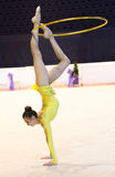 Ukraiński Rytmicznych gimnastyk mistrzostwo 2014 zdjęcia stock