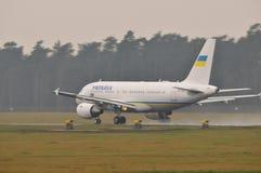 Ukraiński rzędu samolot Obrazy Royalty Free