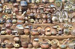 Ukraińskie ceramiczne pamiątki Obraz Stock