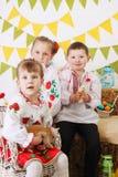 Ukraińscy dzieci w kostiumach Zdjęcia Royalty Free