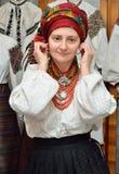 Ukraińska kobieta w tradycyjnej szacie Zdjęcie Royalty Free