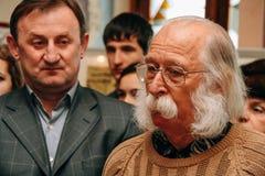 Ukraiński malarz Ivan Marchuk i Ukraiński polityk Mykhailo Zdjęcie Stock