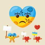 Ukraiński Smutny serce royalty ilustracja
