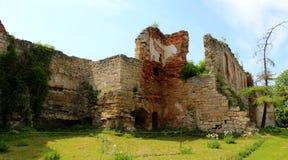 年迈的城堡,建筑学大厦在Ukrain的西部 免版税库存照片