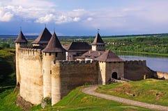 Ukrain Fortaleza de Hotyn, Ucrânia ocidental Foto de Stock Royalty Free