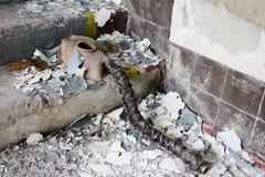 Ukraina Chernobyl niedopuszczenia strefa - 2016 03 20 Infekować napromienianie maski Zdjęcie Royalty Free
