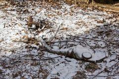 Ukraina Chernobyl niedopuszczenia strefa - 2016 03 19 Infekować napromienianie maski Zdjęcia Stock
