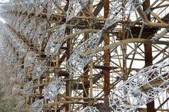 Ukraina Chernobyl niedopuszczenia strefa - 2016 03 20 Radziecka radarowa łatwość DUGA Fotografia Royalty Free