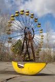 Ukraina Chernobyl niedopuszczenia strefa - 2016 03 19 Zaniechany park rozrywki w Pripyat mieście Fotografia Royalty Free