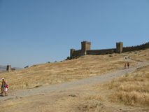Ukraina crimea Genueński forteca w Sudak Zdjęcia Royalty Free