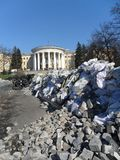 Ukraina för Kyiv Maydan Kiev krigrevolution arkitektur 2014 Royaltyfri Bild