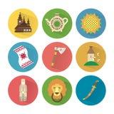 Ukraina ikony Ustawiają 3 Fotografia Royalty Free