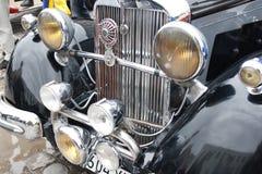 UKRAINA, KAMYANETS-PODILSKY - CZERWIEC 06, 2009 Retro Samochodowy festiwal w Kamyanets-Podilsky, Ukraina Zdjęcie Royalty Free