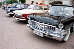 UKRAINA, KAMYANETS-PODILSKY - CZERWIEC 06, 2009 Retro Samochodowy festiwal w Kamyanets-Podilsky, Ukraina Obrazy Royalty Free