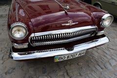 UKRAINA, KAMYANETS-PODILSKY - CZERWIEC 06, 2009 Retro Samochodowy festiwal w Kamyanets-Podilsky, Ukraina Fotografia Royalty Free