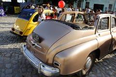 UKRAINA, KAMYANETS-PODILSKY - CZERWIEC 06, 2009 Retro Samochodowy festiwal w Kamyanets-Podilsky, Ukraina Zdjęcia Stock