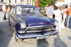 UKRAINA KAMYANETS-PODILSKY - JUNI 06, 2009 Retro bilfestival i Kamyanets-Podilsky, Ukraina Royaltyfria Foton