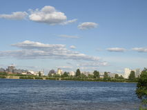 Ukraina.Kiev. Dnipro River. Royalty Free Stock Image