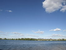 Ukraina.Kiev. Dnipro River. Stock Images