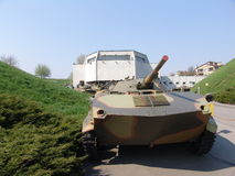 Ukraina kiev Pamiątkowy kompleks muzeum Wielka Patriotyczna wojna Militarny wyposażenie ACR BMD Fotografia Royalty Free