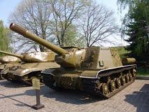 Ukraina kiev Pamiątkowy kompleks muzeum Wielka Patriotyczna wojna Militarny wyposażenie Cysternowy niszczyciel Fotografia Royalty Free