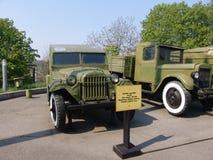 Ukraina kiev Pamiątkowy kompleks muzeum Wielka Patriotyczna wojna Militarny wyposażenie jeeping Zdjęcie Stock