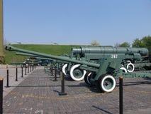 Ukraina kiev Pamiątkowy kompleks muzeum Wielka Patriotyczna wojna Militarny wyposażenie Zbiornika pistolet Zdjęcie Royalty Free