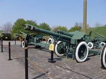 Ukraina kiev Pamiątkowy kompleks muzeum Wielka Patriotyczna wojna Militarny wyposażenie Zbiornika pistolet Obrazy Royalty Free