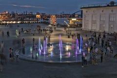 Ukraina, Kijów Podol Poczta kwadrat, fontanny Obrazy Royalty Free