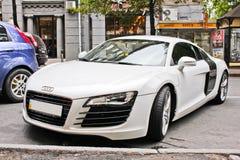 Ukraina, Kijów; Sierpień 15, 2013; Audi R8 zdjęcia royalty free