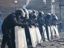 Ukraina, Kijów Ulica protestuje w Kijów na majdanie, męcząca policja Obrazy Stock