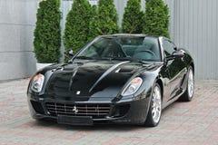 Ukraina, Kijów; Wrzesień 2, 2013; Ferrari 599 GTB Fiorano obrazy stock