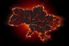 Ukraina kris Royaltyfri Bild