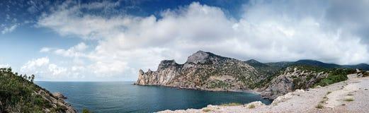 Ukraina Krymski półwysep, skalisty wybrzeże Czarny morze, Tsar zatoczka Obraz Royalty Free
