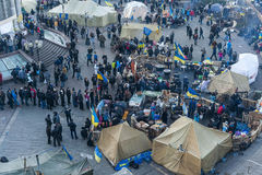 Ukraina - majdan: Narodziny społeczeństwo obywatelskie 23rd 2013 Dec Zdjęcia Royalty Free