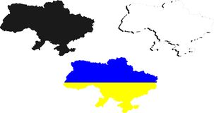 Ukraina mapa Fotografia Stock