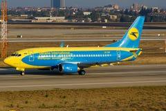 Ukraina Międzynarodowy Boeing 737 Fotografia Royalty Free