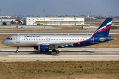 Ukraina Międzynarodowy Boeing 737 Zdjęcia Royalty Free