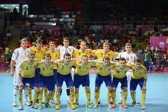 Ukraina nationellt futsal lag Arkivbild